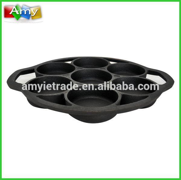 China Factory for Racing Car Candy Jar T - SM-150B Cast Iron Poffertjes Pan, Nonstick Pancake Pan – Amy