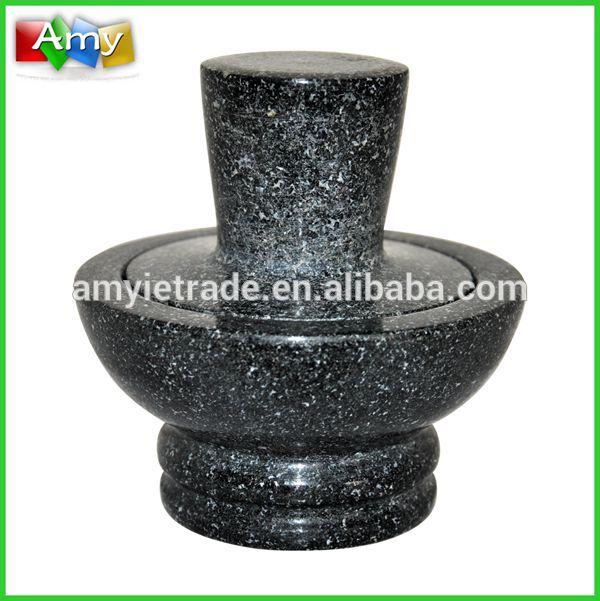 OEM/ODM Manufacturer Preseaasoned Enamel Cast Iron Dutch Oven - SM704 new style granite stone mortar and pestle set – Amy