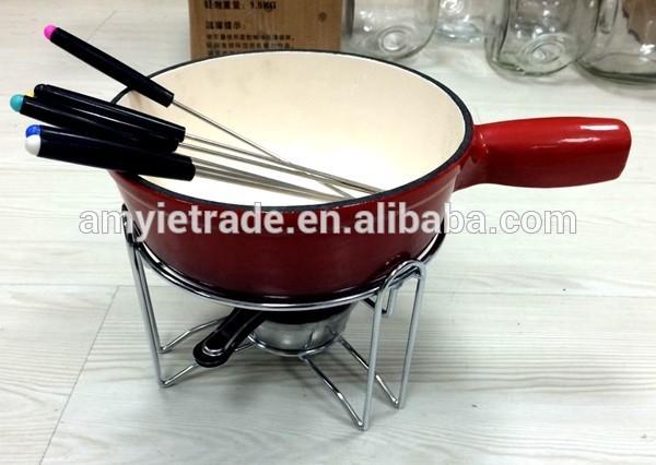 Wholesale Price Oval Cast Iron Dutch Oven - Fondue Set, Chocolate Fondue, Cheese Fondue – Amy