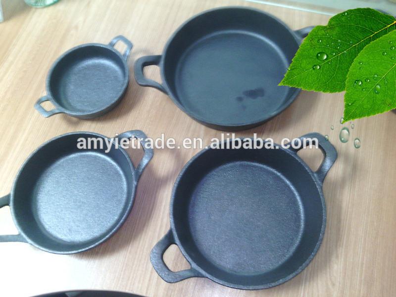 mini cast iron fry pan set/cast iron cookware