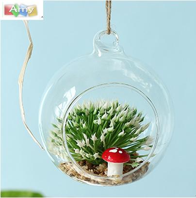 OEM/ODM China Beauty Glassware Cup - decoration geometric clear geometric plant holder handblown vase poland hanging glass terrarium – Amy