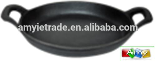 2017 wholesale price Enameled Cast Iron Gratin Dish - SW-FP22A 22×15.5x3cm Cast Iron Pizza Pan – Amy