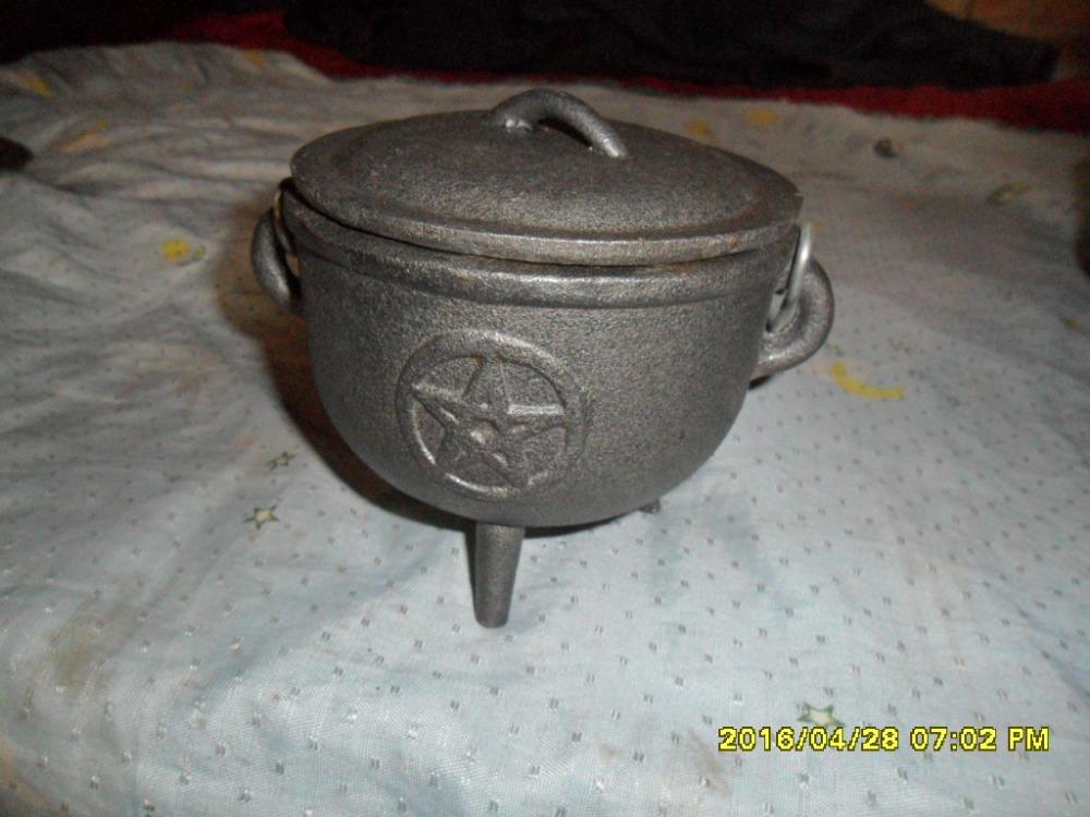 8 Year Exporter Three-legged Potjie Pot - 11cm cast iron 3 legs cauldron/cast iron cookware – Amy