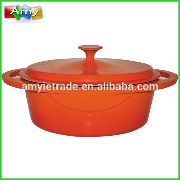 SW-KB300 Oval Cast Iron Enamel Soup Pots, Enamel Cast Iron Cookware