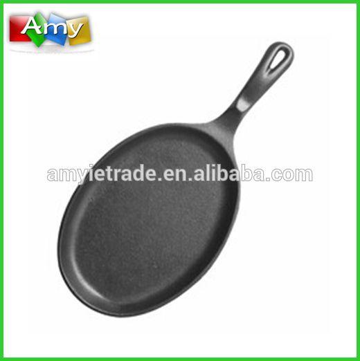 China OEM Hammered Silver Bowls - Preseasoned Cast Iron Oval Skillet – Fajita Pan – Amy